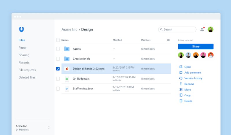 Dropbox Redesigns Its Web Interface to Streamline Conversations and Collaborations