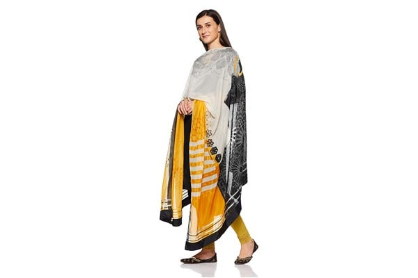 best ethnic dupatta for women W for Woman Synthetic White Ethnic Dupatta