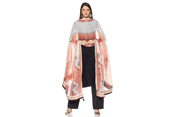 best ethnic dupatta for women W for Woman Synthetic Dupatta