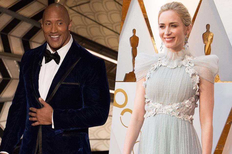 Dwayne Johnson, Emily Blunt Reunite on Netflix Superhero Movie Ball and Chain: Reports