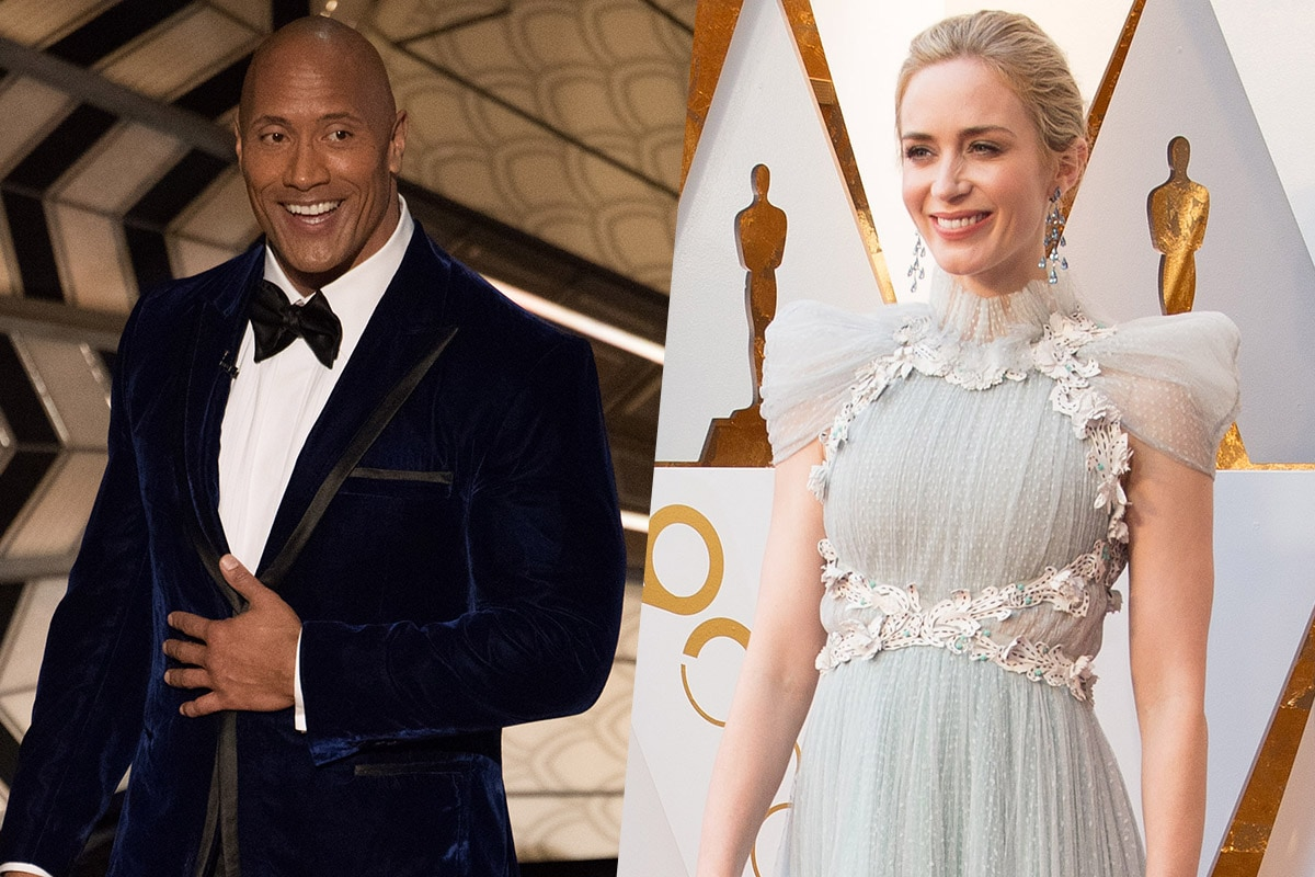 Dwayne Johnson, Emily Blunt Reunite on Netflix Superhero Movie Ball and Chain: Reports