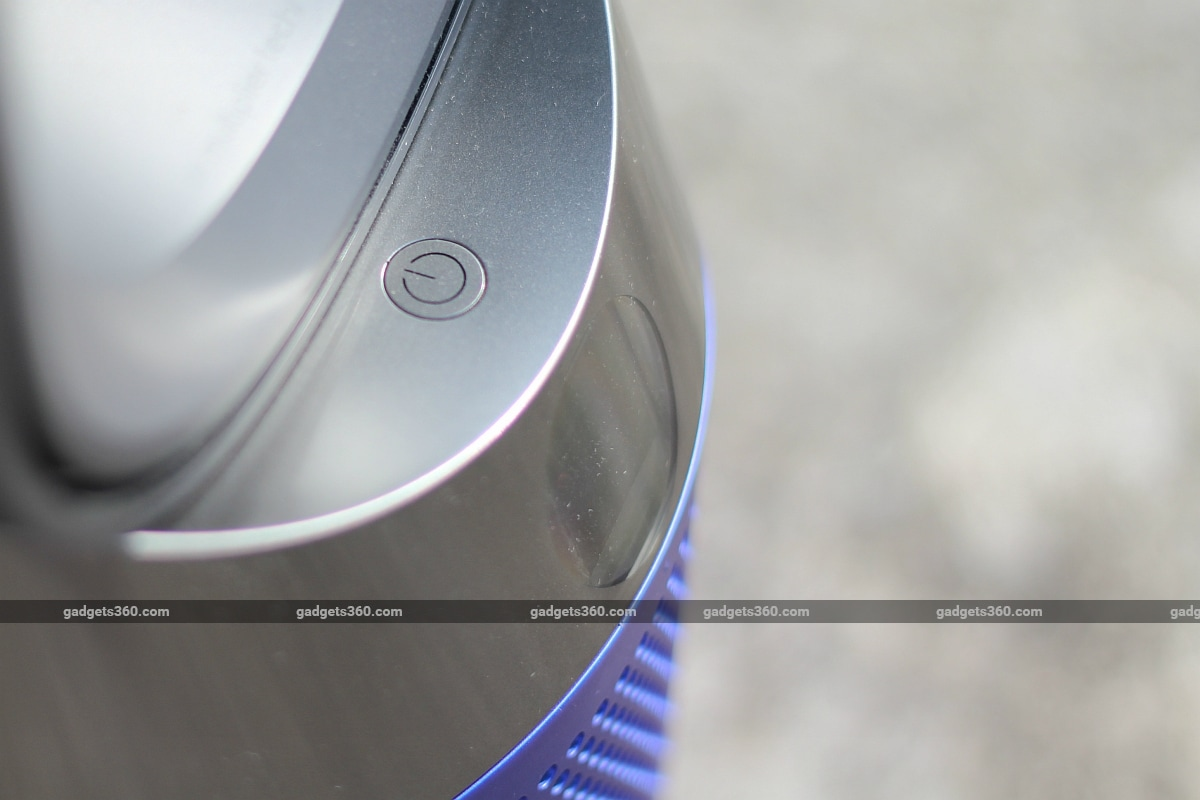dyson pure hot cool air purifier power button gadgets 360 Dyson Pure Hot Cool Air Purifier