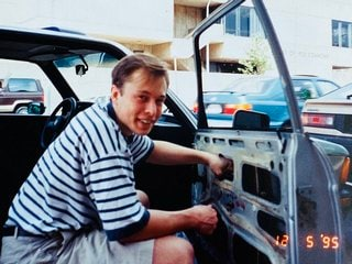 Elon Musk's Mother Shares a 1995 Photo of Him Fixing Car Window