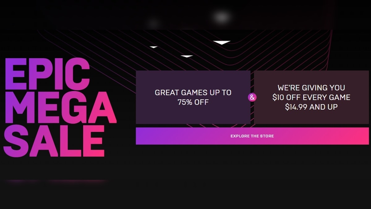 Epic Mega Sale Takes $10 Off Every Game Priced Above $15 Plus Additional Discounts, Applies to Past Purchases Too