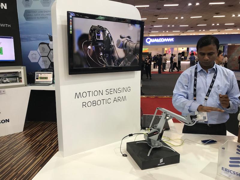 ericsson robotic arm ndtvgadgets360 India Mobile Congress Ericsson