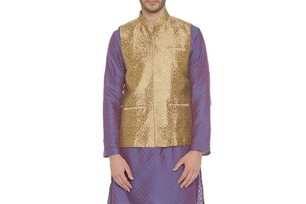 best ethnic jacket for mens in india Indus Route by Pantaloons Boy's Polyester Blouson Waistcoat