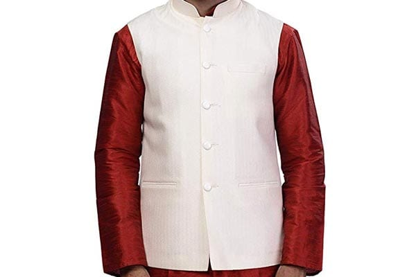 best ethnic jackets for mens in india Rajwada Ethnic Indian Nehru Collar Waistcoat for Men