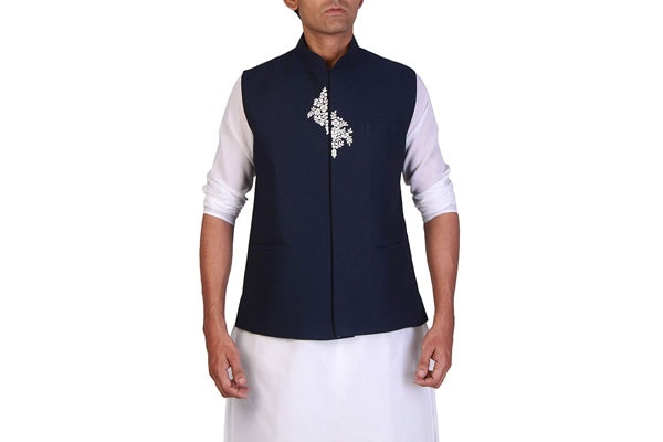 best ethnic jackets for mens in india STUDIO S Designer Men's Poly-viscose Nehru Jacket