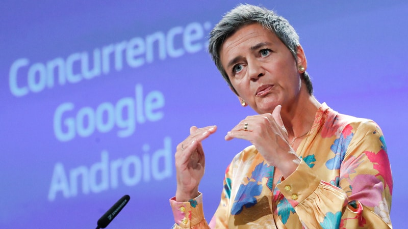 Google hit with record 4.3 billion-euro fine