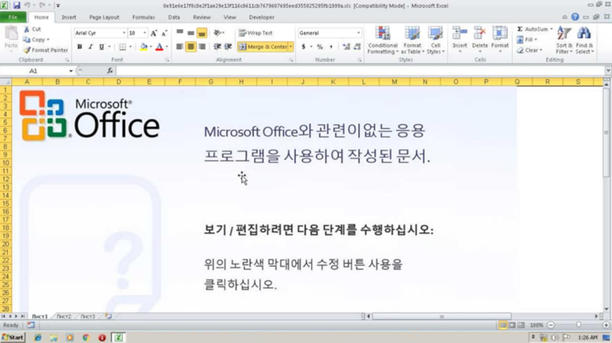 Microsoft Warns Users of New Malware Attack via a Disguised Excel Attachment