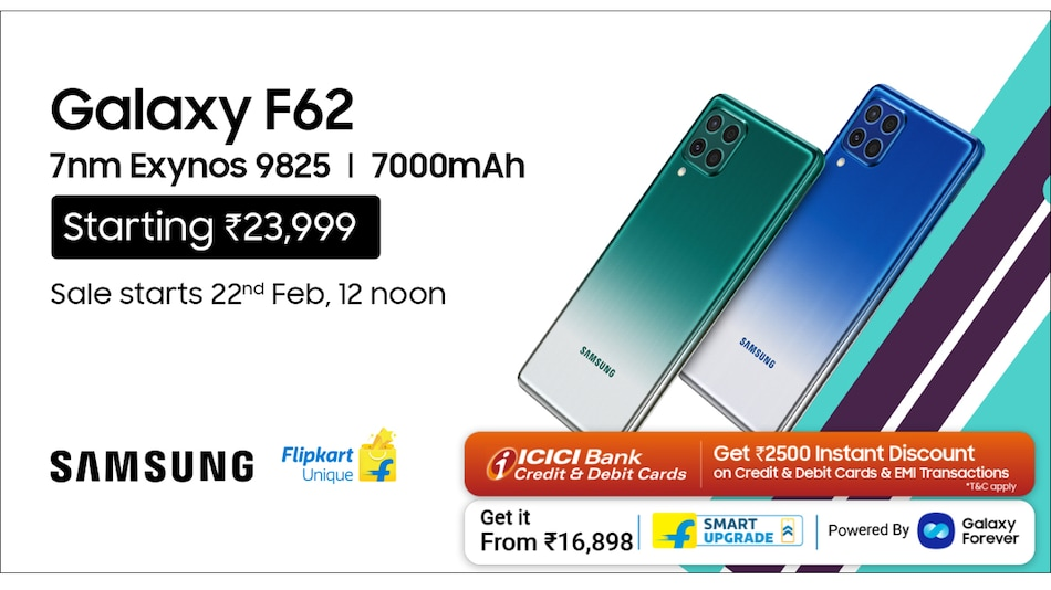 Samsung Galaxy F62 Launched - the Next-Level Processor for the Mobile Future