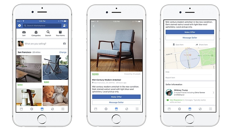 facebook marketplace launched lets users buy and sell with their local community technology news. Black Bedroom Furniture Sets. Home Design Ideas