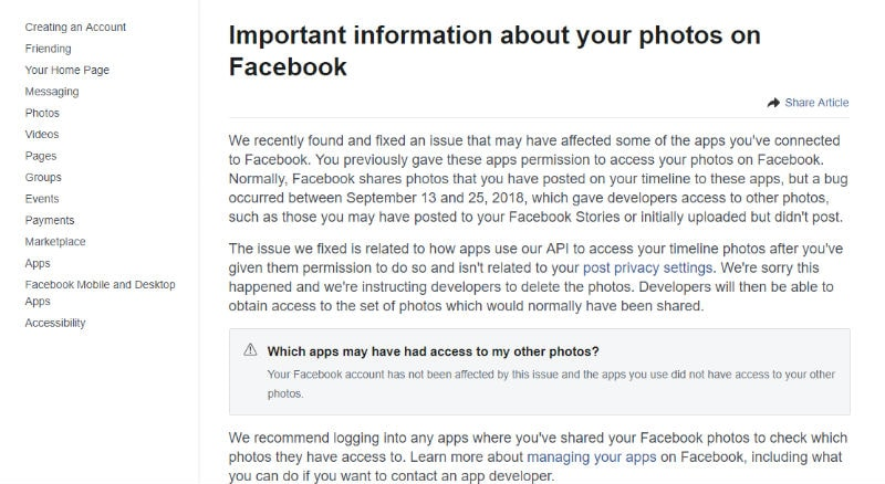 Facebook accidentally exposes personal data of 6.8 million users