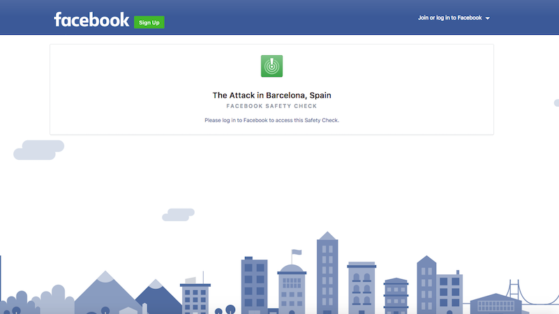 Facebook, Google Activate SOS Features After Barcelona Attack