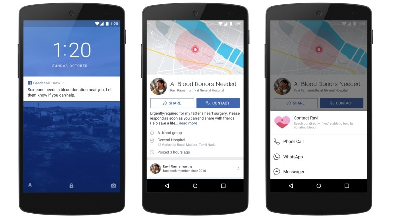 Facebook details blood donation plan for India