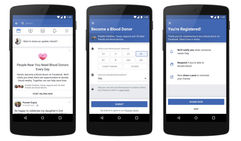 Facebook's Blood Donation Feature Sees Over 4 Million Indians Sign Up