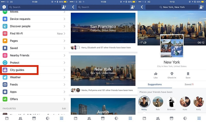 facebook city guides the next web facebook