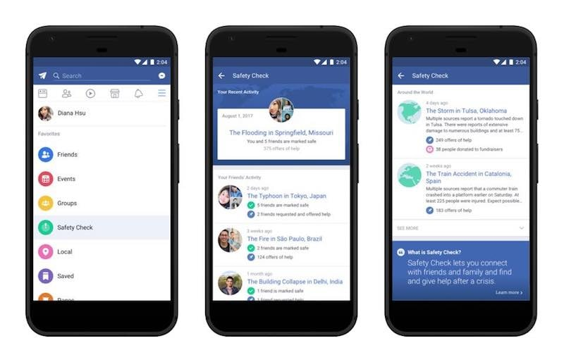 Facebook Safety Check Becomes a Permanent Feature With Its Own Section