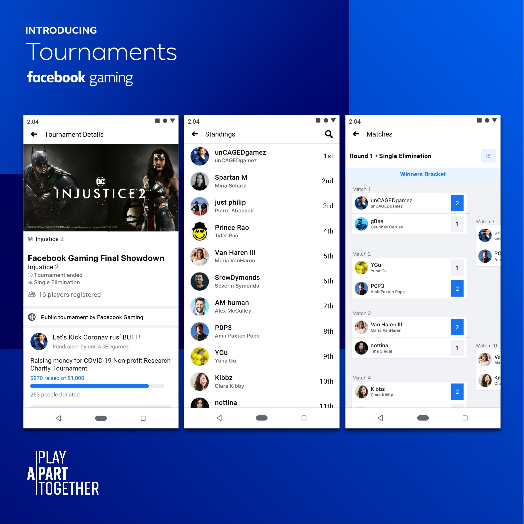 facebook gaming tournaments image screenshots Facebook Gaming