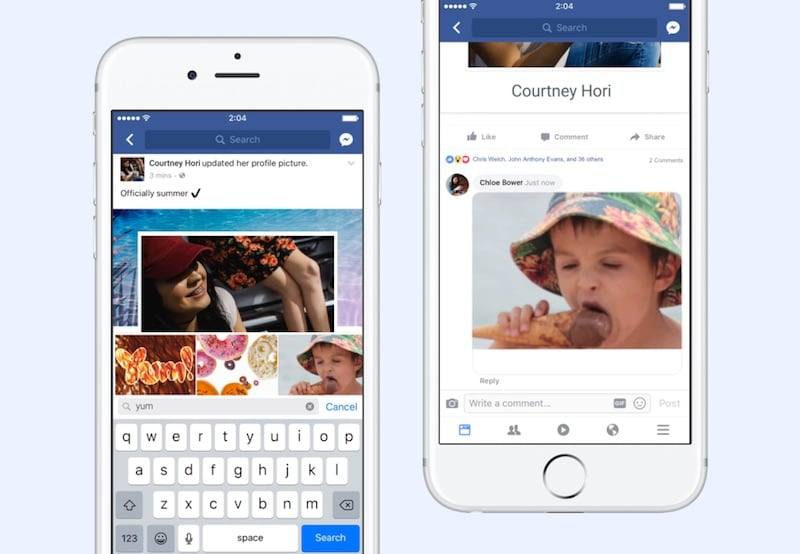 Facebook's built-in camera does GIFs now
