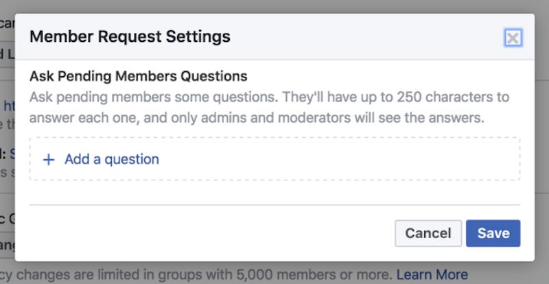 facebook groups settings facebook