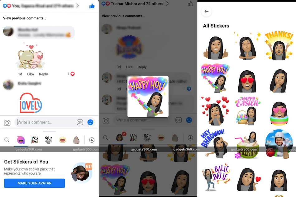 Facebook Rolls Out Holi-Themed Avatar Stickers to Celebrate Festival of Colours: How to Use