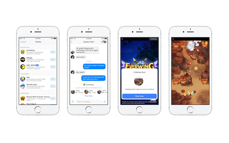 Facebook Instant Games Launched; Lets You Play Games in Messenger, News Feed