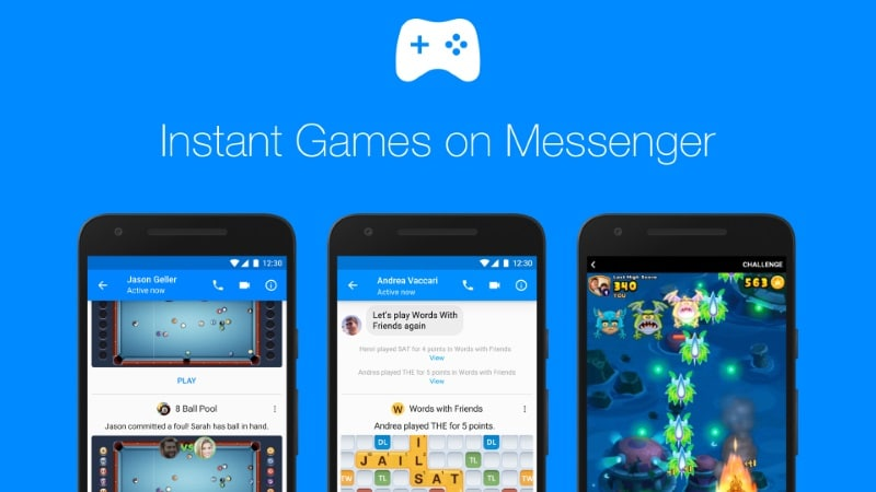 Facebook Messenger Now Rolling Out 'Instant Games' to All Users