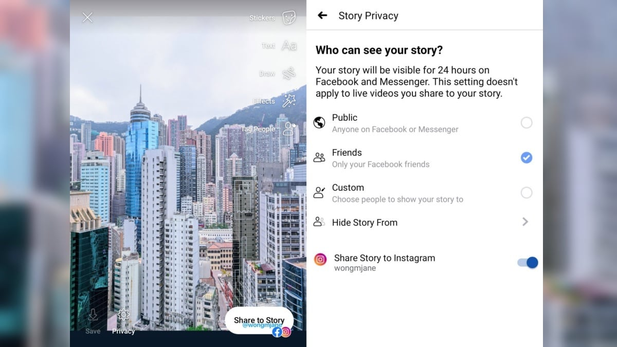 Facebook Tests Cross-Posting Stories to Instagram With Experimental Feature