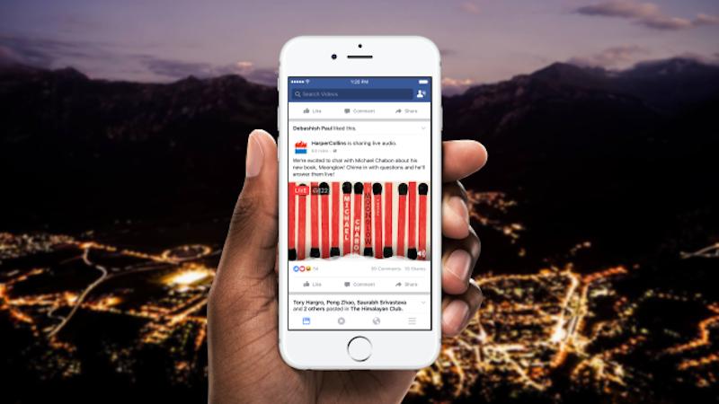 Facebook Live Audio Feature in Testing