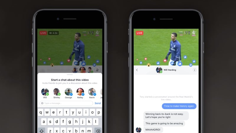 Facebook Gets 'Live Chat With Friends' and 'Live With' Features