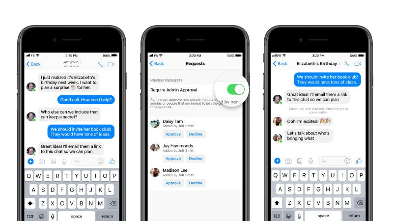 Facebook Messenger gives more controls to group chat administrators