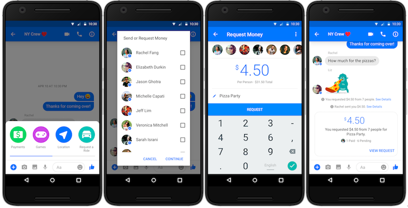 Facebook Messenger Gets Group Payments Support