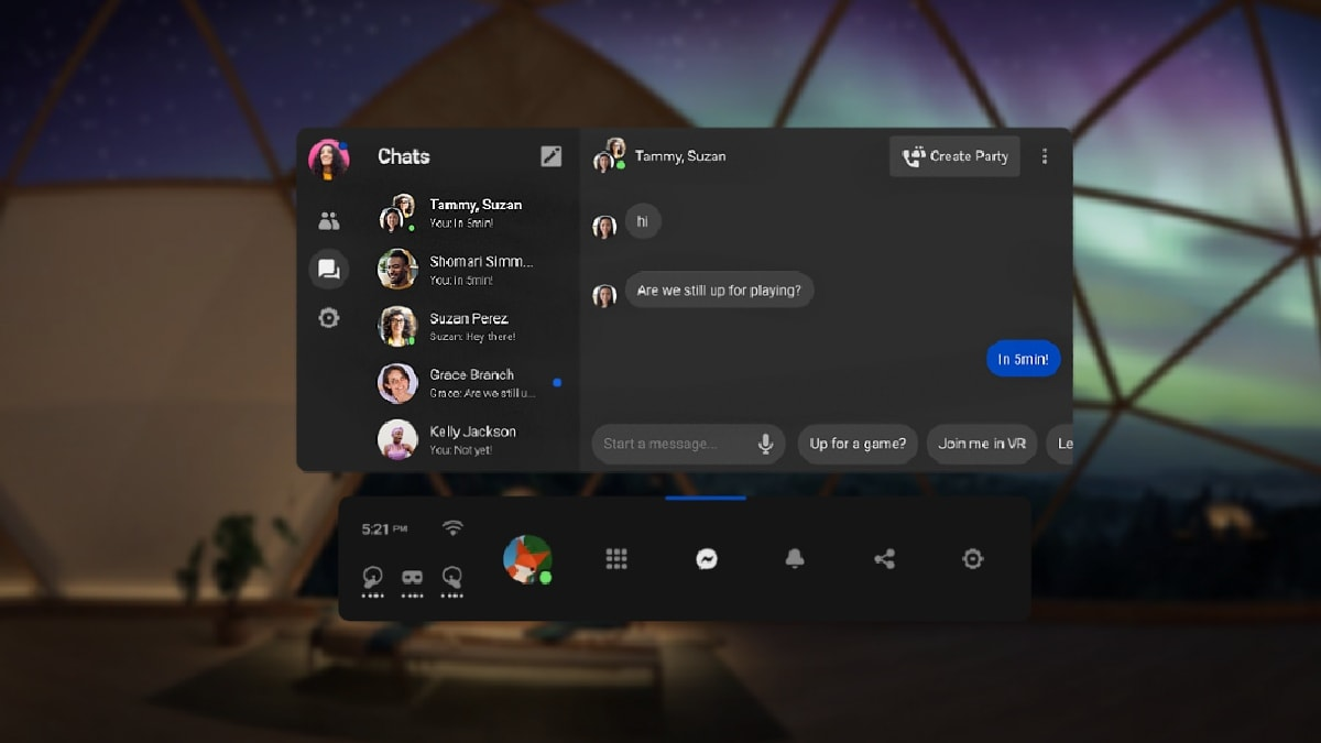Facebook Messenger Comes To Oculus Quest Headsets