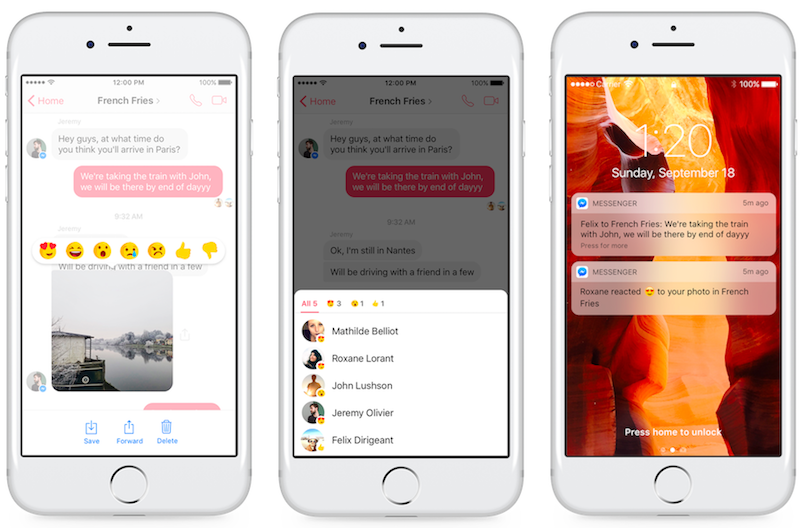 Facebook Messenger Adds Support for Reactions and Mentions