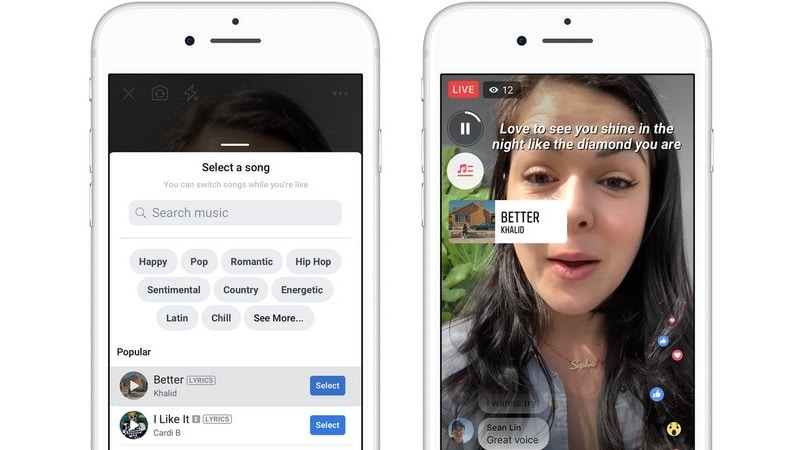 Facebook Now Lets You Add Songs to Photos, Videos