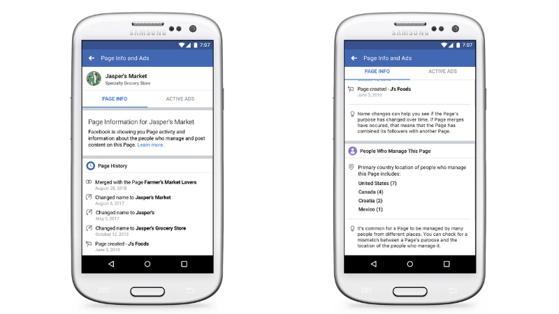 Facebook Tweaks Pages in Bid to Make Them More Transparent, Prevent Abuse