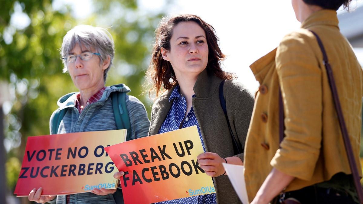 facebook protestors reuters full Facebook