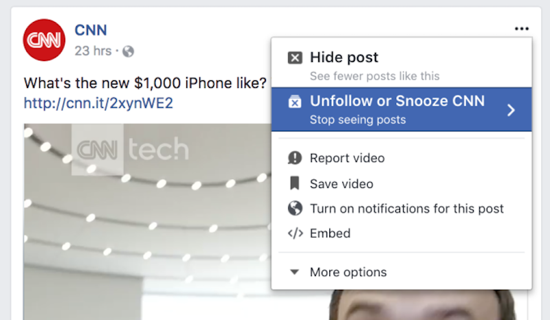 Facebook Testing Snooze Feature to Temporarily Mute Friends Without Unfollowing