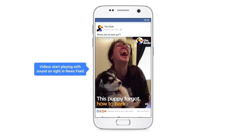 Facebook Now Autoplays News Feed Videos With Sound; Gets Picture-in-Picture Support and More