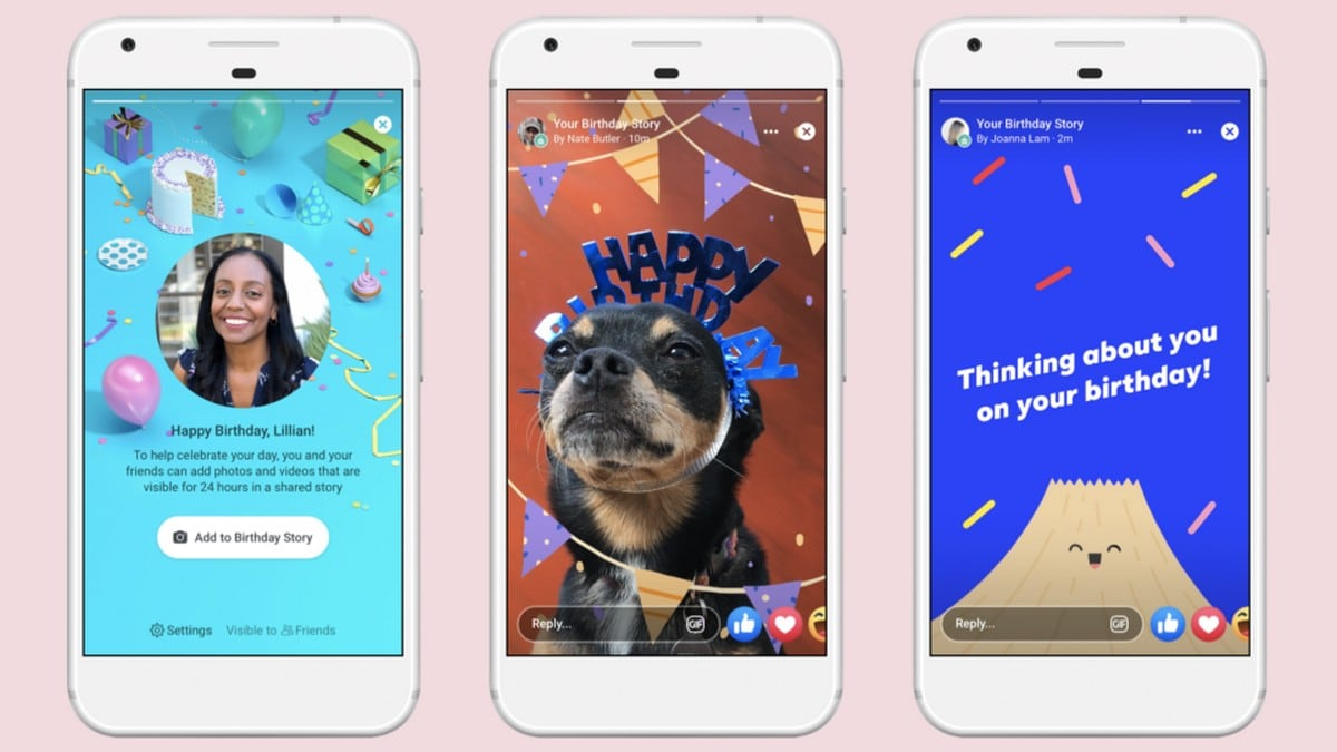 Facebook Launches Birthday Stories, Lets Users Add Cards, Photos, and Videos