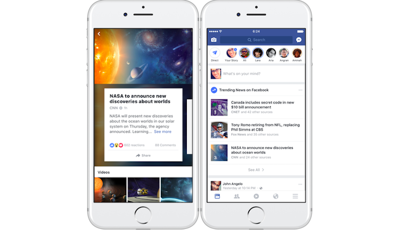 Facebook Trending Topics Tweaked to Show More News Sources
