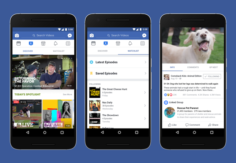 Facebook Watch Unveiled in New Expanded Video Bid for TV Viewers