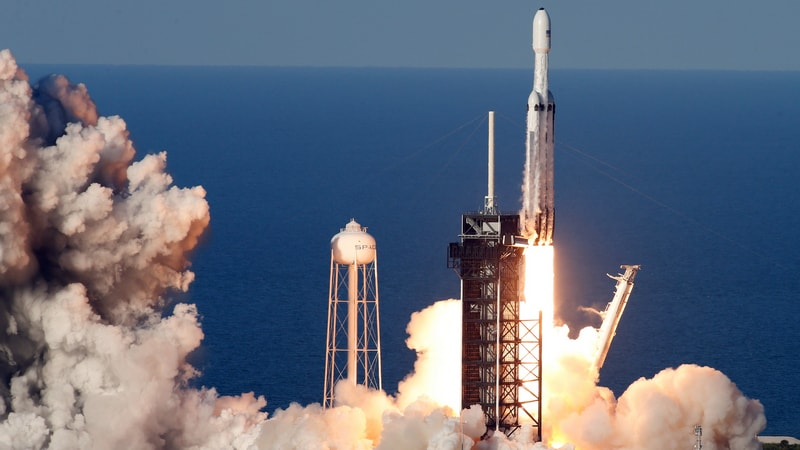 SpaceX Falcon Heavy Rocket Launched in Company's First Commercial Mission