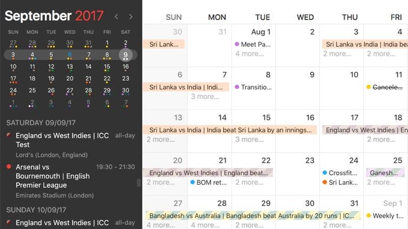 fantastical 2 mac sports calendars Fantastical 2