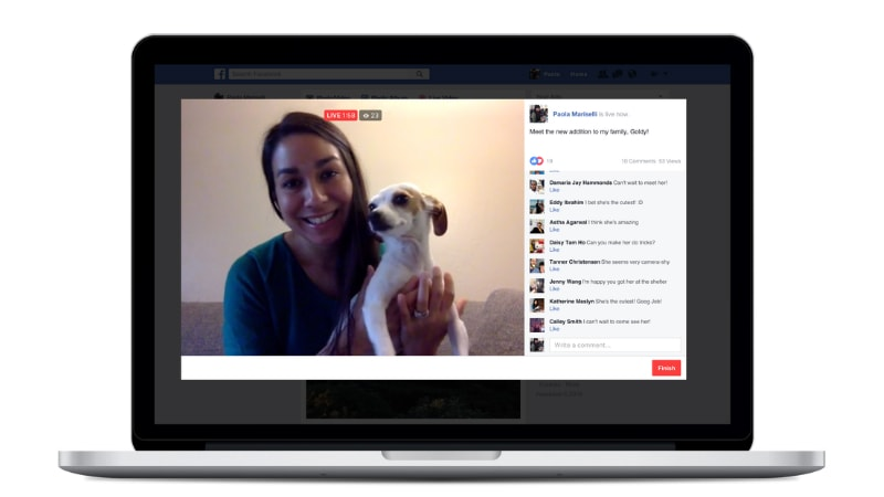 Facebook Live Video Streaming Now Available on Desktop