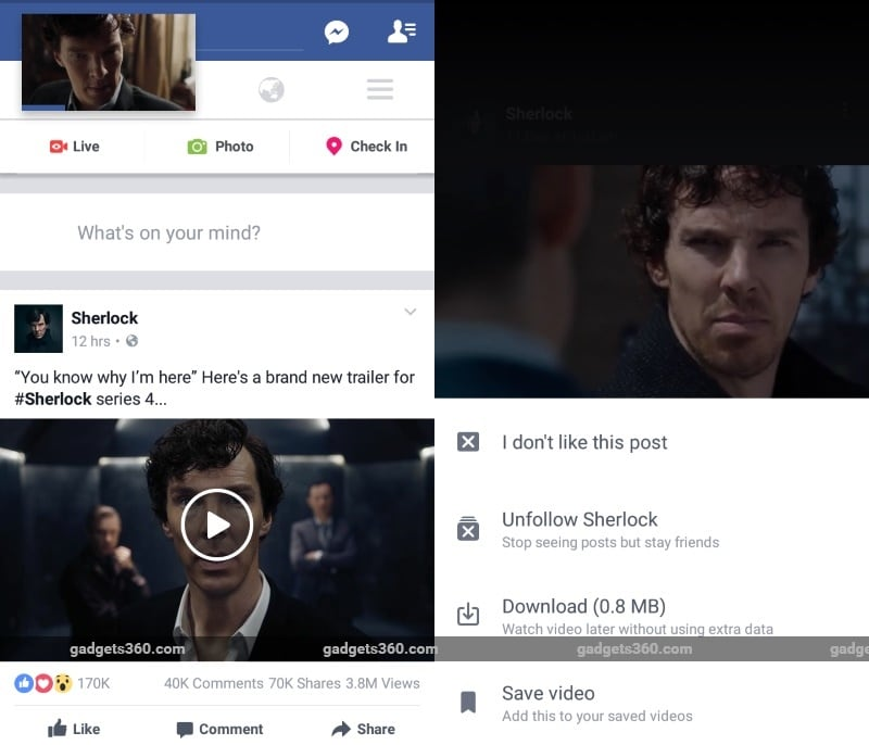 Facebook Brings HD Video Uploads to Android, Unveils Floating Video Widget, and More