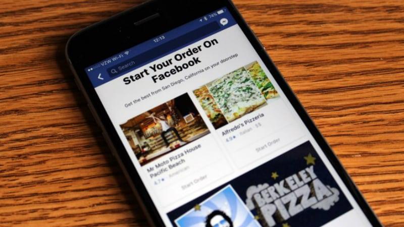 Facebook से ऑर्डर कर पाएंगे खाना, जारी हुआ नया फ़ीचर