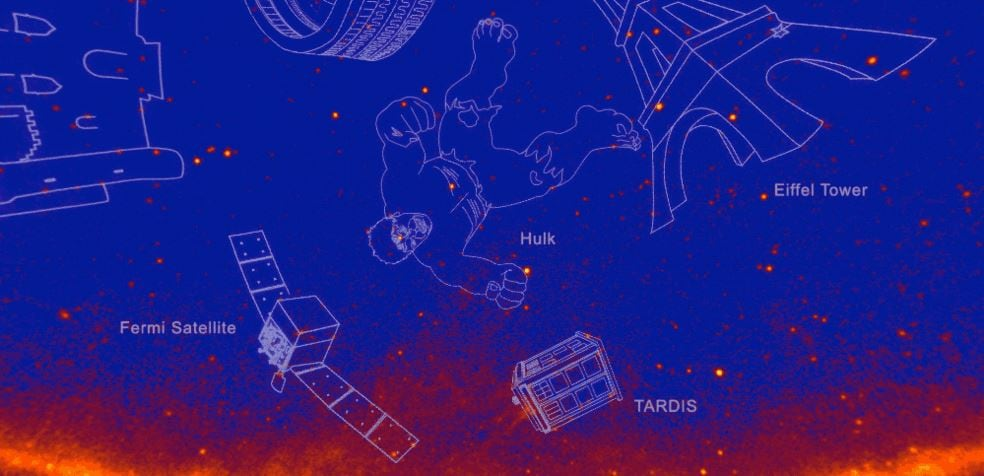 NASA Names New Gamma-Ray Constellations After Godzilla, Hulk