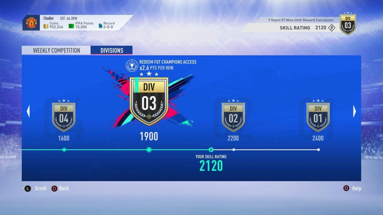 FIFA 19 Ultimate Team Gets New 'Division Rivals' Mode